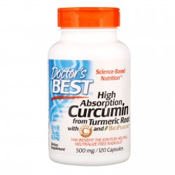 Doctor's Best Curcumin, High Absorption 500mg